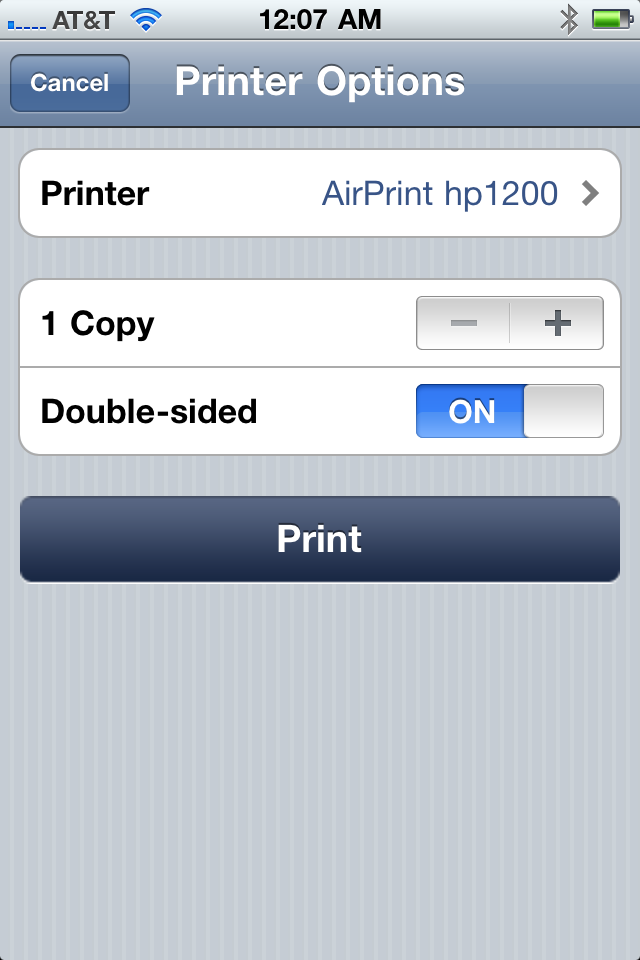 how to add airprint printer on ipad