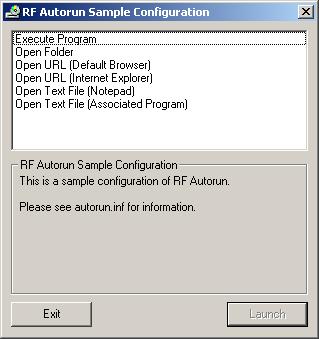 RF Autorun - A free, customizable autorun menu